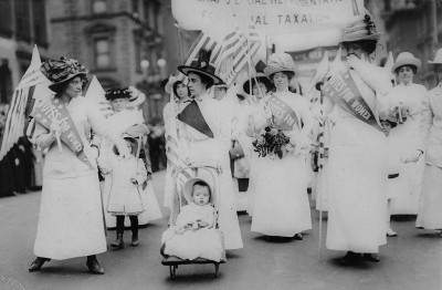 Feminist suffrage parade in New York City, May 6, 1912.